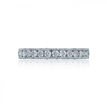 HT 2607 B 3/4 0.97ctw Diamond VS Clarity; G Colour Royal T Platinum Tacori 3/4 way Band