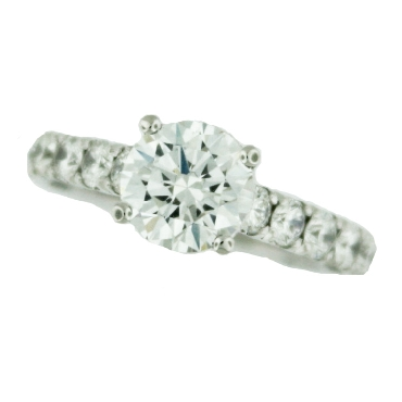 36-3 RD 7.5 W 1.00ctw Diamond VS Clarity; G Colour with Cubic Zirconia Centre Clean Crescent 18K White Gold Ring by Tacori - Serial No. 249559