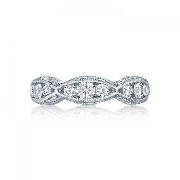 2644 B 5 1.48ctw Diamond VS Clarity; G Colour Tacori Classic Crescent 18K White Gold Band - Serial No. 284602