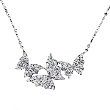 Stephen Webster Fly By Night Necklace 1.29ctw White Diamond VS1 Clarity; GH Colour 18K White Gold - 17 Inch