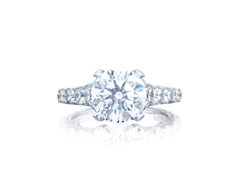 HT 2623 RD 8 1.65ctw Diamond VS Clarity; G Colour set with Cubic Zirconia Centre Royal T Platinum Ring by Tacori - Serial No. 322466