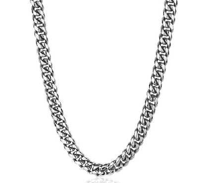 26 Inch Stainless Steel 10mm Cuban Link Necklace by Italgem Steel
