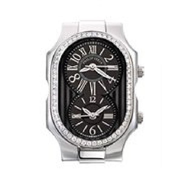 Large 1.16ctw Diamond Bezel New Fashion Black Dial Signature Philip Stein Watch - Serial No. 2TF104415