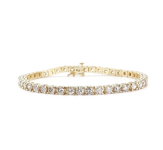 7.00ctw Diamond 14K Yellow Gold Tennis Bracelet - 7 1/4 Inch