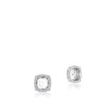 FE 806 CU 6 - 0.20ctw Diamond VS Clarity; G Colour Cushion Dantela 18K White Gold Earring Jackets by Tacori - Serial No. 2129751