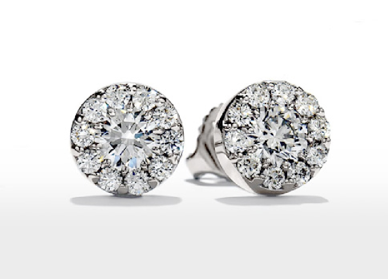 0.50ctw Fulfillment VS-SI Clarity; IJ Colour 18K White Gold Stud Earrings by Hearts on Fire