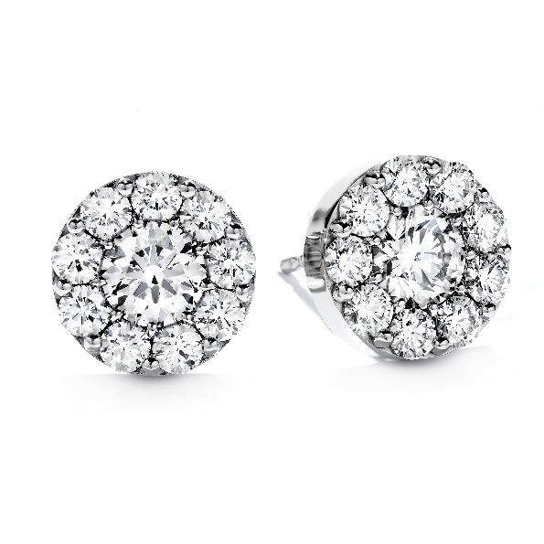 1.36ctw Hearts on Fire Diamond VS-SI Clarity; IJ Colour Fulfillment 18K White Gold Earrings