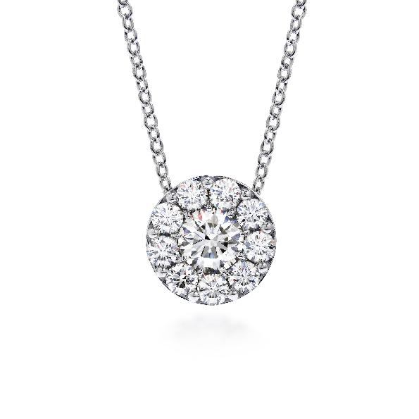 1.45ctw Hearts on Fire Diamond VS-SI Clarity; IJ Colour Fulfillment 18K White Gold Pendant and Chain