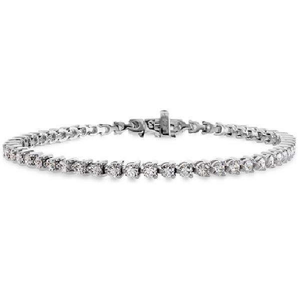 2.98ctw Hearts on Fire Select Diamond VS-SI Clarity; K Colour Temptation Three Prong 18K White Gold Bracelet