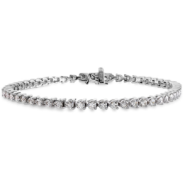6.08ctw Hearts on Fire Select Diamond  VS1-SI2 Clarity; JK Colour Temptation Three Prong 18K White Gold Bracelet