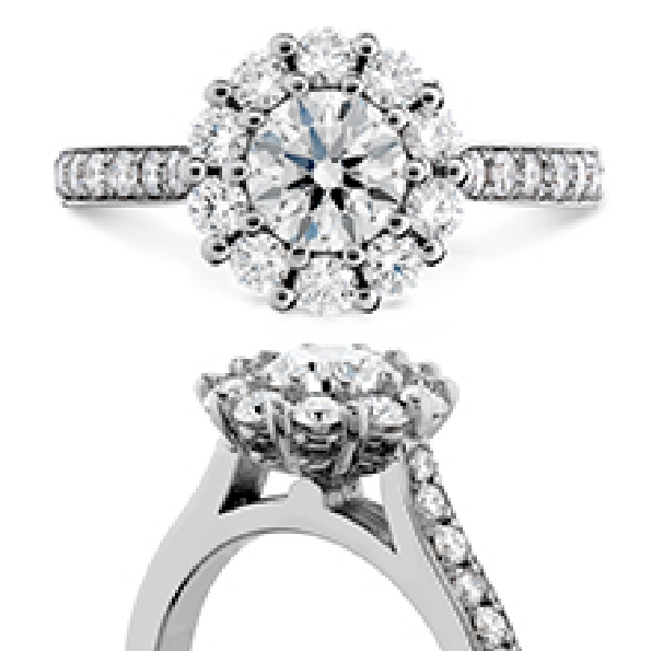 0.588ct Hearts on Fire Diamond VS1-SI1 Clarity; IJ Colour (HOF142949) set in 0.552ctw Beloved Solitaire VS-SI Clarity; IJ Colour 18K White Gold Ring