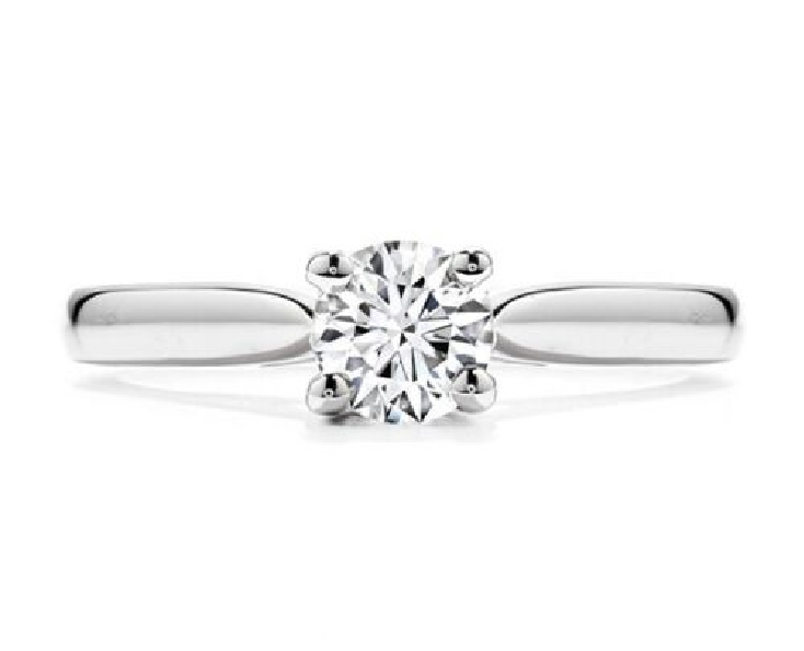 1.044ct Hearts on Fire Diamond VS1-SI2 Clarity; K Colour Select (HOF170028) set in Serenity Solitaire 18K White Gold Ring by Hearts on Fire