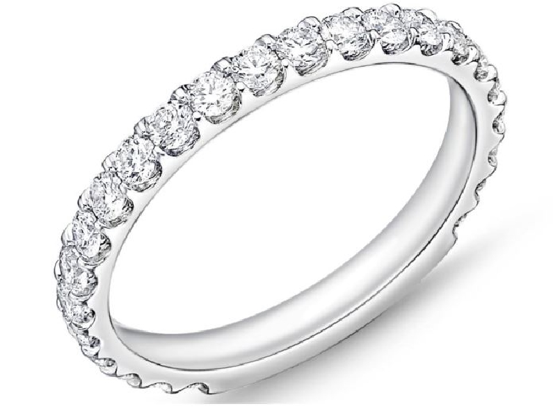 Odessa 24 Stone 3/4 Way 0.778ctw Diamond SI Clarity; GH Colour 18K White Gold Band by Memoire