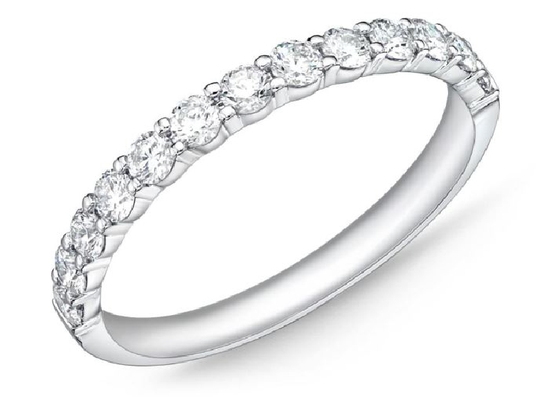 Petite Prong 13 Stone 0.514ctw Diamond SI Clarity; GH Colour 18K White Gold Band by Memoire