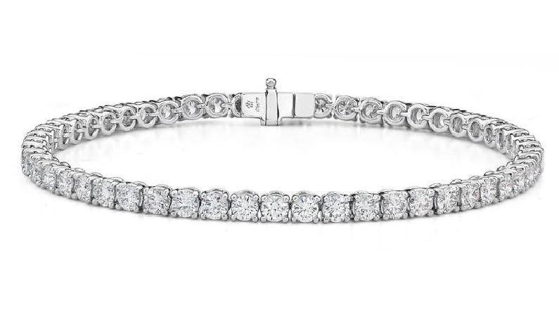 5.79ctw Diamond SI Clarity; GH Colour 18K White Gold Bracelet by Memoire