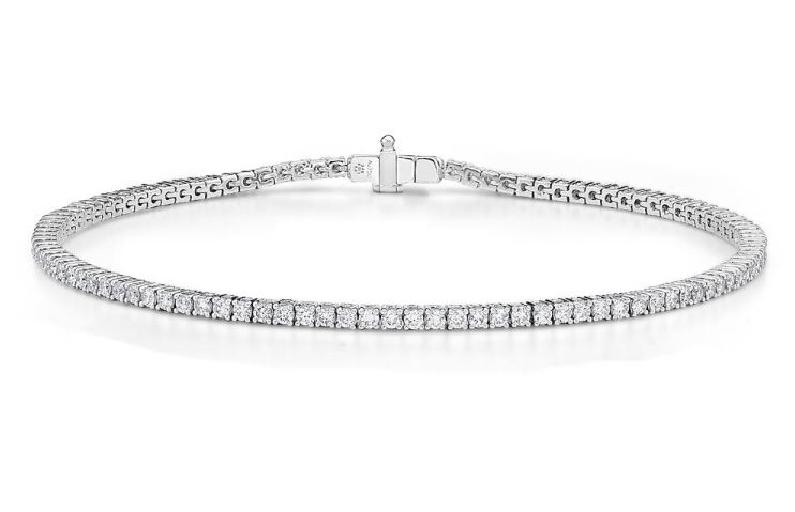3.466ctw Diamond SI Clarity; GH Colour 18K White Gold Bracelet by Memoire