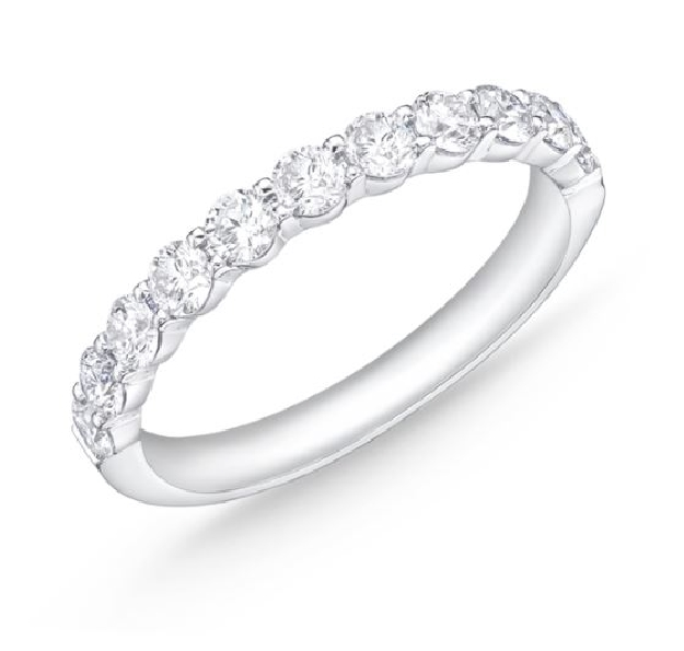 Petite Prong 11 Stone 0.764ctw Diamond SI Clarity; GH Colour 18K White Gold Band by Memoire