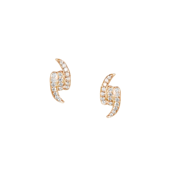 Stephen Webster Forget Me Knot 0.24ctw White Diamonds VS1 Clarity; GH Colour 18K Rose Gold Stud Earrings - 3017339