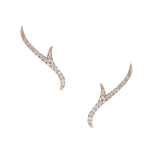 Stephen Webster Thorn 0.22ctw Diamond VS1 Clarity; GH Colour Pave Set 18K Yellow Gold Stud Earrings - 3017945