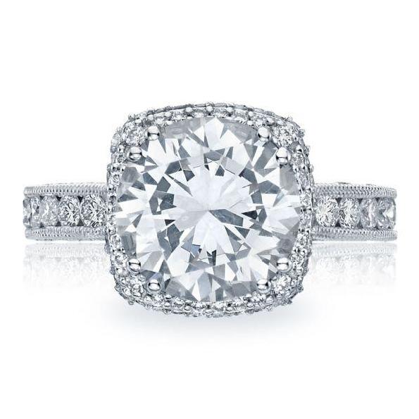 HT 2607 RD 10 - 1.31ctw Diamond VS Clarity; G Colour Set with Cubic Zirconia Centre Tacori Royal T Platinum Ring Mount  - Serial No. 157718