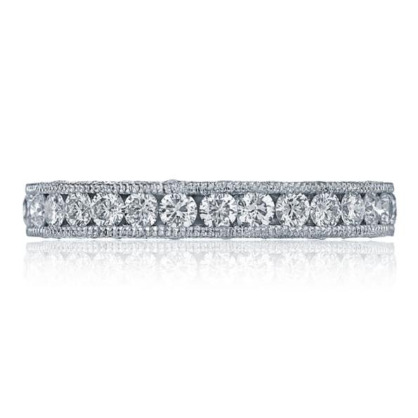 HT 2607 B 3/4 - 0.97ctw Diamond VS Clarity; G Colour Royal T Platinum Tacori 3/4 way Band - Serial No. 249447