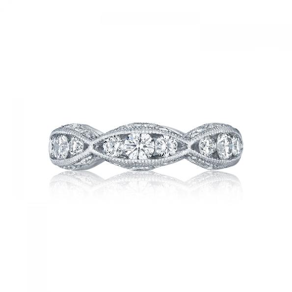2644 B 5 - 1.48ctw Diamond VS Clarity; G Colour Tacori Classic Crescent 18K White Gold Band - Serial No. 284602