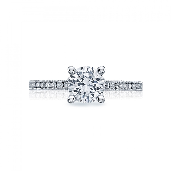 44-1.5 RD 6 W 0.19ctw Diamond VS Clarity; G Colour Milgrain Channel Set Sculpted 18K White Gold Tacori Ring - Serial No. 293660
